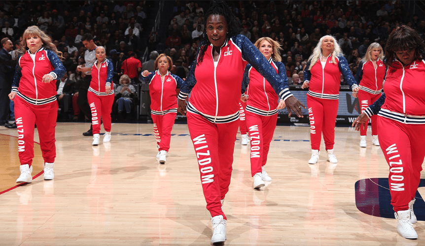 TeamSafe Gear gives a shout out to the Washington Wizards and their Senior Dance Team: THE WIZDOM